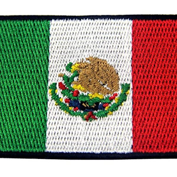 EmbTao Airsoft Morale Patch 2 EmbTao Patches Mexico Flag Embroidered Mexican Applique Hook & Loop National Emblem