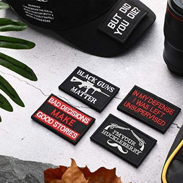 WILLBOND Airsoft Morale Patch 6 25 Pieces Tactical Embroidery Patch Tactical Appliques Military Embroidery Patches for Clothes Caps Hats Bags Backpack Military Cosplay DIY Crafts