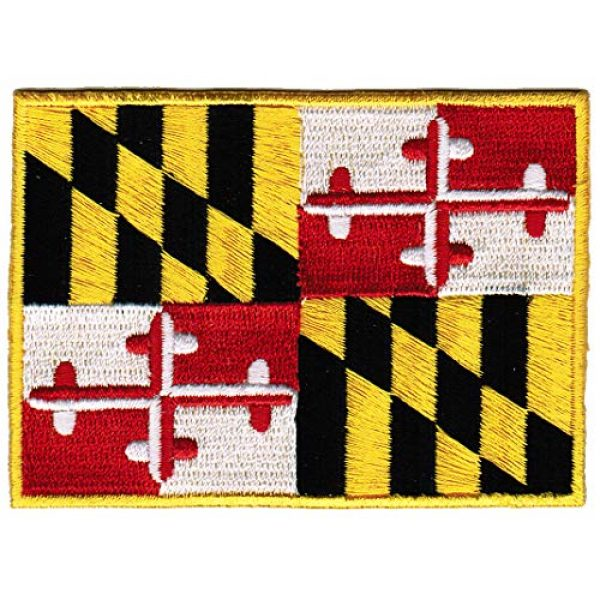 Cypress Collectibles Embroidered Patches Airsoft Morale Patch 1 Maryland State Flag Embroidered Patch Iron-On MD Emblem