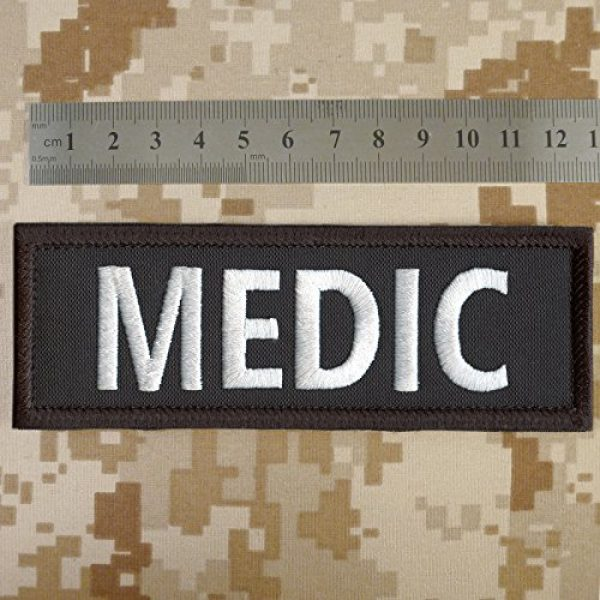 """LEGEEON Airsoft Morale Patch 3 LEGEEON Medic 5""""x2"""" EMT EMS Paramedic Body Armor Tactical Embroidered Nylon Fastener Patch"""