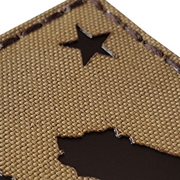 Tactical Freaky Airsoft Morale Patch 6 Coyote Brown Infrared IR California Republic State Flag 3.5x2 Tan Arid IFF Tactical Morale Touch Fastener Patch