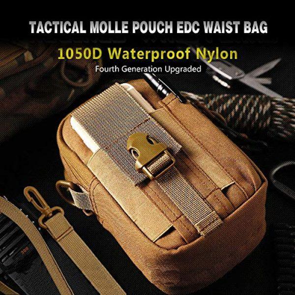 ANTARCTICA Tactical Pouch 3 ANTARCTICA 1050D Tactical Molle EDC Pouch Waist Bag Cell Phone Holster Holder Outdoor Hip Waist Belt Bag Wallet Purse