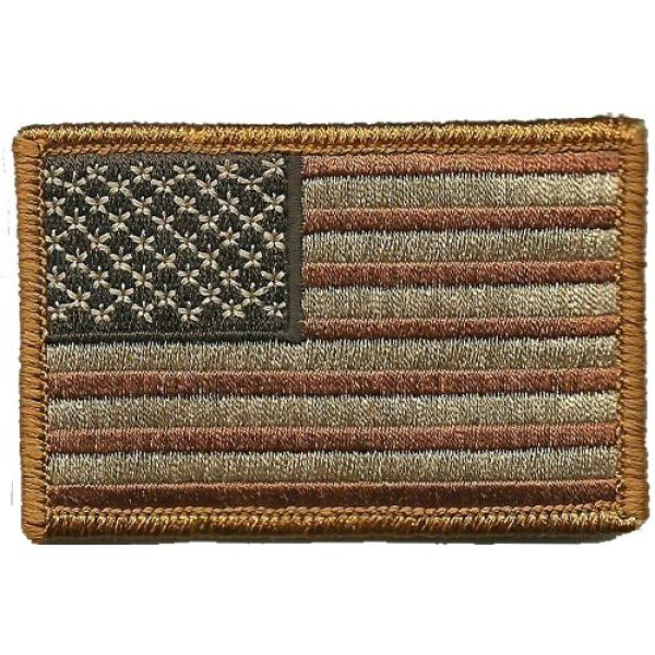 Gadsden and Culpeper Airsoft Morale Patch 1 Tactical USA Flag Patch - Subdued Red White Blue by Gadsden and Culpeper