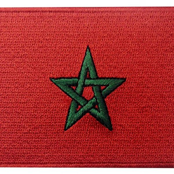 EmbTao Airsoft Morale Patch 2 Morocco Flag Embroidered Patch Moroccan Iron On Sew On National Emblem
