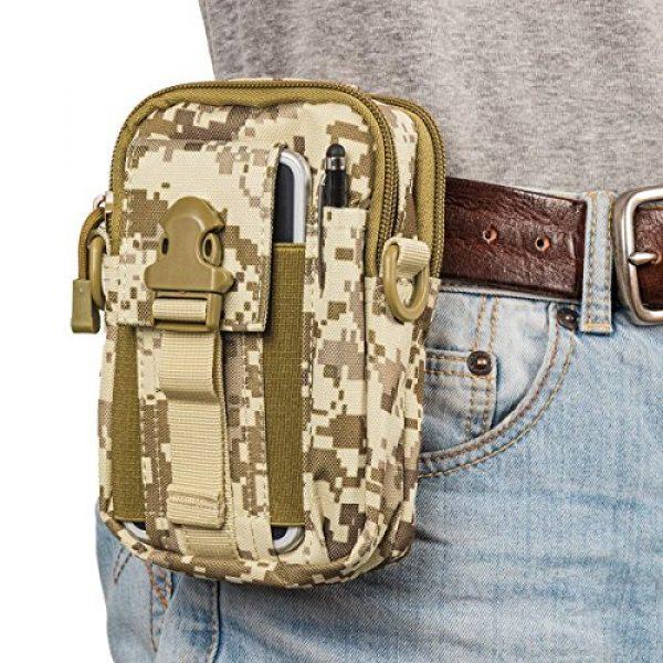 Ailuner Tactical Pouch 7 Tactical Molle Waist Bags, Waterproof Pouch, Universal Men's Outdoor Sport Casual Waist Pack Coin Purse Gear Holster Utility Pouch Phone Case (Desert)