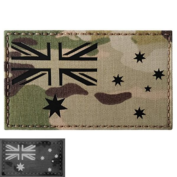 Tactical Freaky Airsoft Morale Patch 4 Big 3x5 Multicam Infrared IR Australia Flag IFF Tactical Morale Hook-and-Loop Patch