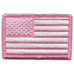 Gadsden and Culpeper Airsoft Morale Patch 1 Tactical USA Flag Patch - Pink