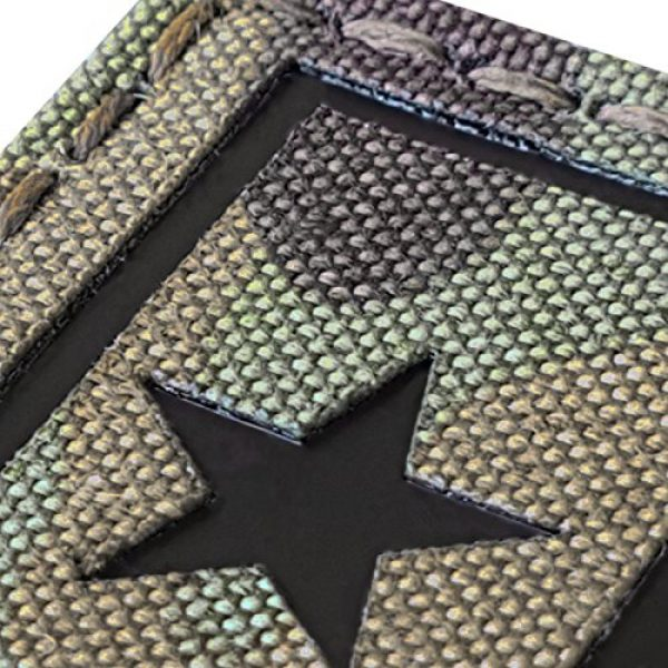 Tactical Freaky Airsoft Morale Patch 4 Multicam Infrared IR Texas Lone Star Flag 3.5x2 IFF Tactical Morale Fastener Patch