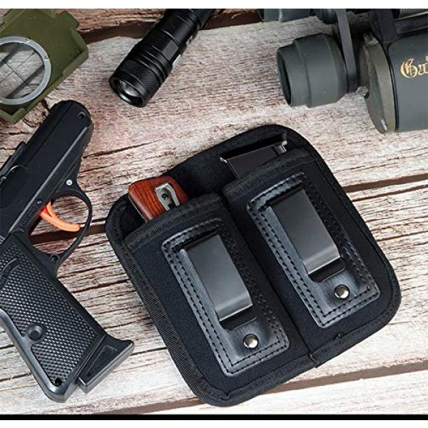 ACEXIER Tactical Pouch 6 ACEXIER Universal Double Magazine Pouch for 9mm .40 .45 .380 .357, IWB Mag Holster Concealed Cary for Double Stack, Mag Holder for Glock 19 43 17 1911 S&W M&P, IWB Clip Magazine Pouch IWB Pistol Ammo