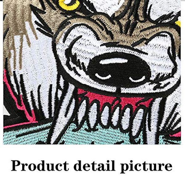 TOOBIT Airsoft Morale Patch 3 12.4'' Wolf Patch Large Motorcycle Backpack Patches Punk Rocker Rider Motorcycle Biker Back Patches Jacket Patches Applique Iron on/Sew on Embroidered Iron On Patch for Jackets | (Wolf)