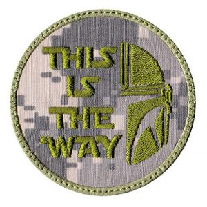 Patch Brigade Airsoft Morale Patch 1 This Is The Way Mandalorian Half Helmet Inspired Art Patch