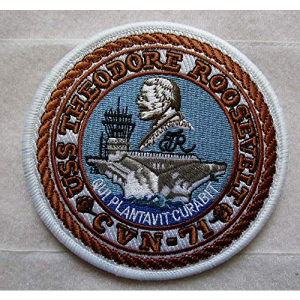 Embroidered Patch Airsoft Morale Patch 1 USS Theodore Roosevelt CVN-71 3D Tactical Patch Military Embroidered Morale Tags Badge Embroidered Patch DIY Applique Shoulder Patch Embroidery Gift Patch