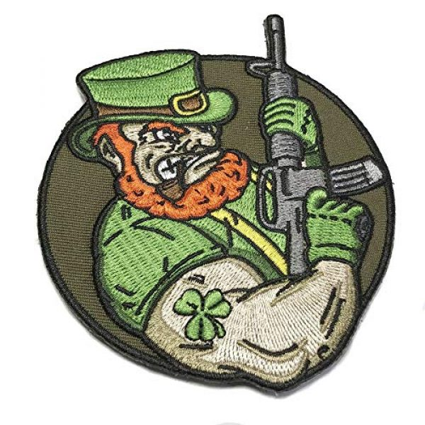 Honchosfx Airsoft Morale Patch 2 Angry Leprechaun AR-15 Embroidered Patriotic Irish Tactical Morale Patch