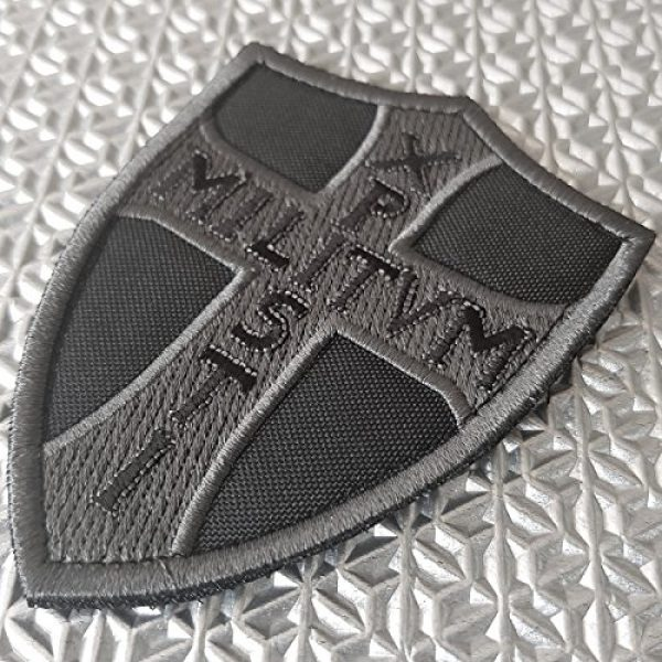 LEGEEON Airsoft Morale Patch 2 LEGEEON ACU Subdued Knights Templar Chi Rho Xpisti Militvm Soldiers of Christ Crusader Cross Tactical Morale Hook&Loop Patch