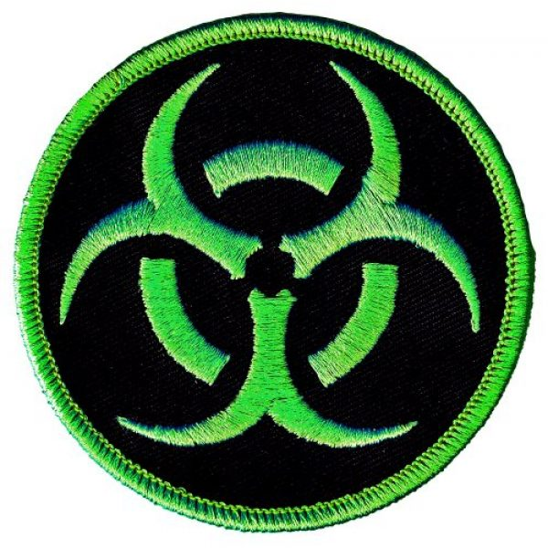 Cypress Collectibles Embroidered Patches Airsoft Morale Patch 1 Biohazard Symbol Embroidered Patch Iron-On Danger Symbol Zombie Green Logo