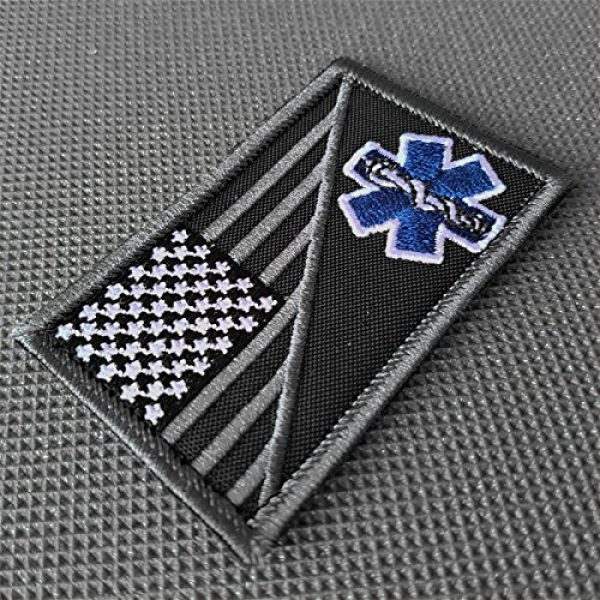 LEGEEON Airsoft Morale Patch 2 LEGEEON ACU EMS EMT Star of Life USA Flag Subdued Paramedic Medical Morale Tactical Army Gear Fastener Patch