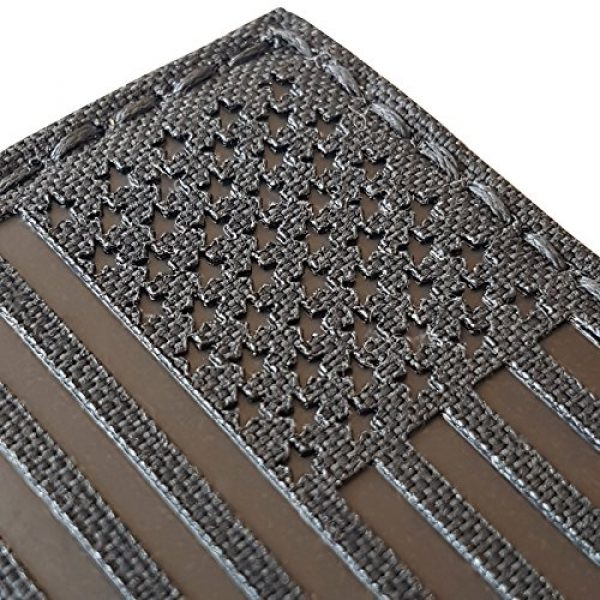Tactical Freaky Airsoft Morale Patch 4 Blackout Infrared IR USA American Flag 3.5x2 IFF Tactical Morale Hook&Loop Patch