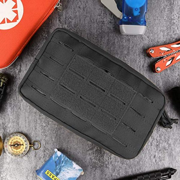 AMYIPO Tactical Pouch 7 AMYIPO Equipment Multi-Purpose Tactical Molle Admin Pouch EDC Utility Tools Bag Utility Pouches Molle Attachment Military Modular Attachment Small Pouch