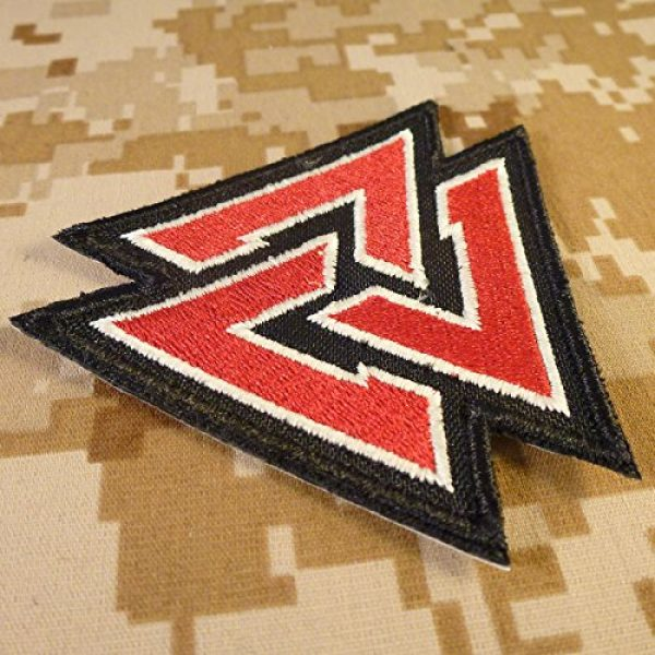 LEGEEON Airsoft Morale Patch 4 LEGEEON Glow Dark Valknut Viking Norse Rune Morale Tactical Sew Iron on Patch