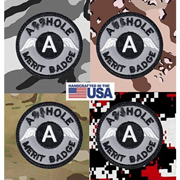 Tactical Patch Works Airsoft Morale Patch 4 A-hole Merit Badge Patch