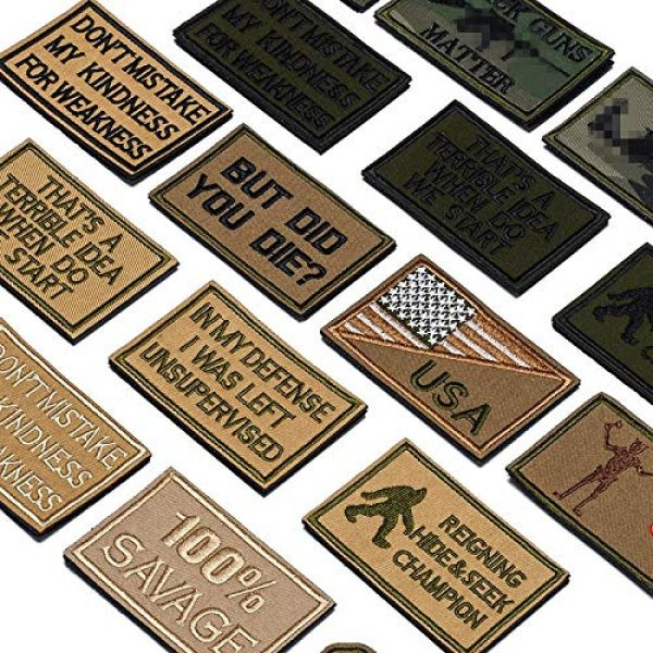 Butie Airsoft Morale Patch 3 Butie 18 Pack Tactical Morale Patches with Hook & Loop, Funny Military Backpack Hat Vest Patch Embroidery Army Badge Set for (RF-65)