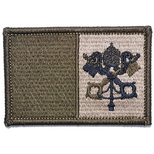 Tactical Gear Junkie Airsoft Morale Patch 1 Vatican Flag - 2x3 Patch - Coyote Brown