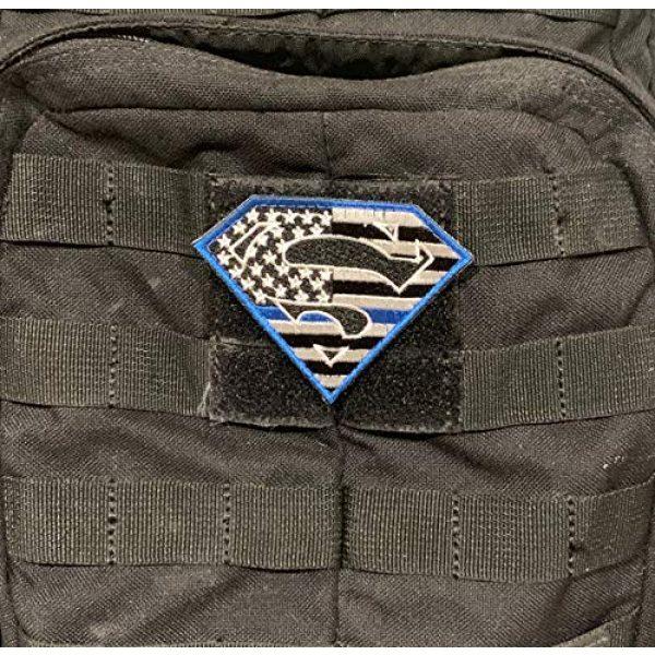 PakedDeals Airsoft Morale Patch 2 PakedDeals Superman Thin Blue Line Morale Patch Police Law Enforcement Blue Border