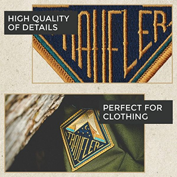 Asilda Airsoft Morale Patch 3 Asilda Embroidered Sew or Iron-on Patch (Traveler)