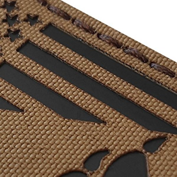 Tactical Freaky Airsoft Morale Patch 3 Coyote IR K9 Dog Handler Paw K-9 USA Flag Brown Tan Infrared Tactical Morale Hook&Loop Patch