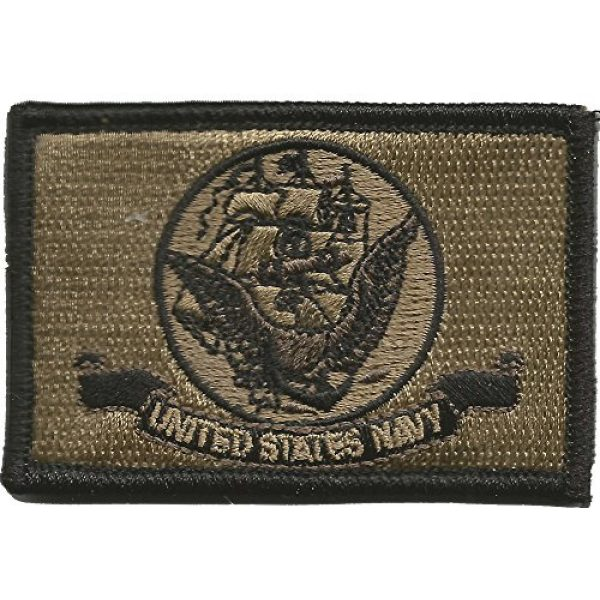 Gadsden and Culpeper Airsoft Morale Patch 3 Navy Flag Tactical Patch - Military