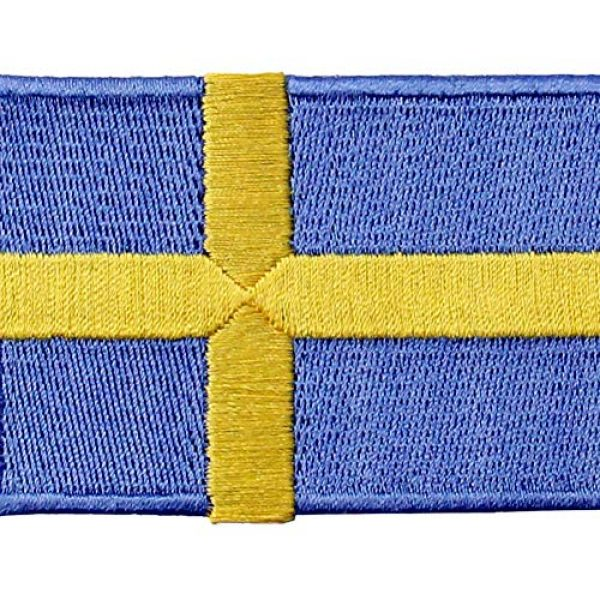 EmbTao Airsoft Morale Patch 2 Sweden Flag Patch Embroidered Swedish Applique Iron On Sew On National Emblem