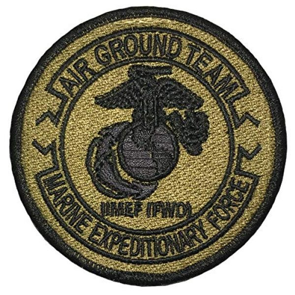 Papapatch Airsoft Morale Patch 1 Papapatch USMC 2nd Marine Expeditionary Force MEF FWD EGA OCP Air Ground Team Hook and Loop Touch Fasteners Backing Patch (SC-Hook-USMC-MEF)
