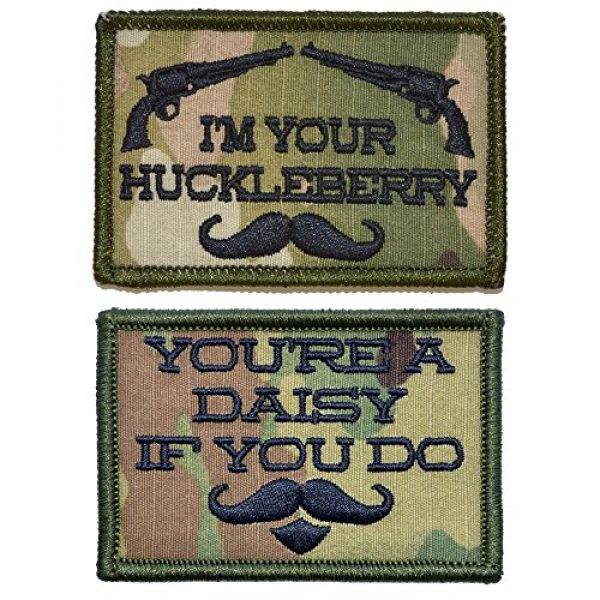 Tactical Gear Junkie Airsoft Morale Patch 1 Tombstone Doc Holiday Quotes Two Patch Set - 2x3 Patches (Multicam)