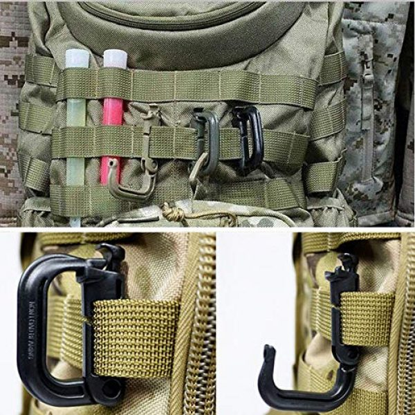 Aoutacc Tactical Pouch 6 Aoutacc Tactical Magazine Pouch Holder MOLLE Triple Open-Top Mag Pouch with D-Ring Grimlock Locking for M4 M16 AR-15 Magazines