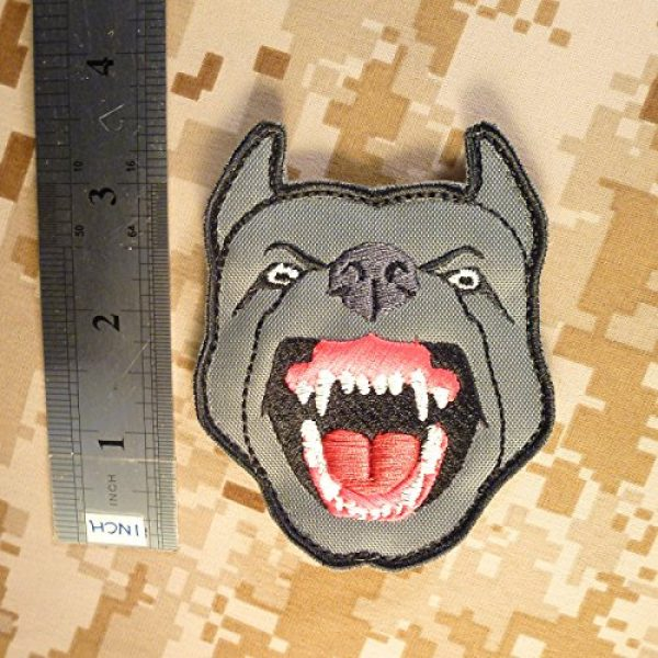 LEGEEON Airsoft Morale Patch 6 LEGEEON Glow Dark GITD K9 Pitbull Dog Teeth Scary Fierce Morale Tactical Embroidered Hook&Loop Patch