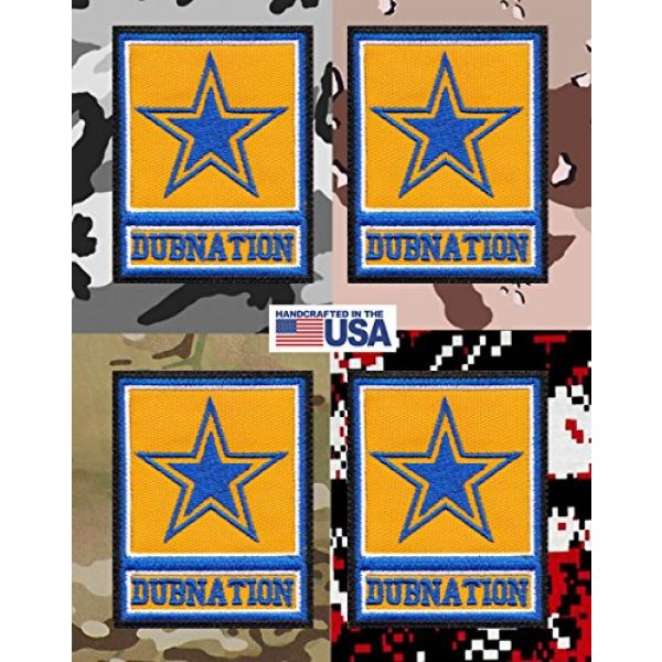 Tactical Patch Works Airsoft Morale Patch 4 Warriors Dubnation Inspired Art Golden State Army Parody Patch