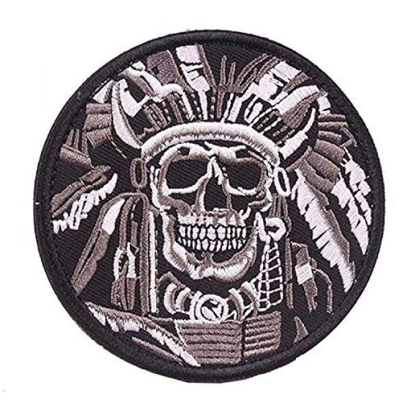 VOZUKO Airsoft Morale Patch 7 Tactical Morale Patches - Bundle 2 Pieces Full Embroidery Hook Backed With Loop Attachment