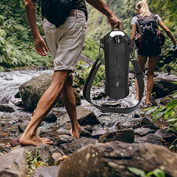 Alomejor Tactical Pouch 6 Alomejor Water Bottle Pouch Sport Water Bottle Kettle Bag with Adjustable Shoulder Strap for Camping Hiking Running