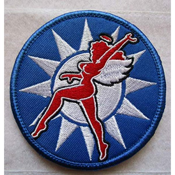 """Embroidered Patch Airsoft Morale Patch 1 WW2 AVG Flying Tigers 3rd Pursuit Squadron""""Wave"""" 3D Tactical Patch Military Embroidered Morale Tags Badge Embroidered Patch DIY Applique Shoulder Patch Embroidery Gift Patch"""