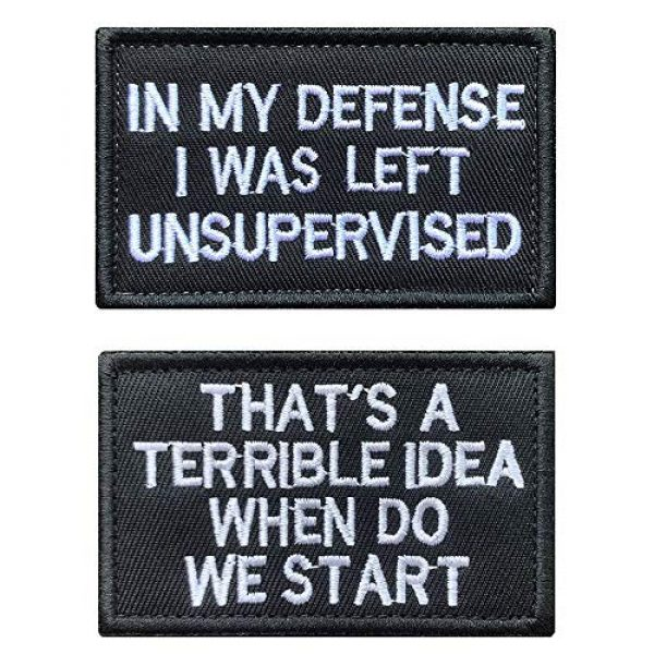Antrix Airsoft Morale Patch 1 Antrix 2 Pieces in My Defense I was Left Unsupervised &That's a Terrible Idea When Do We Start Tactical Military Badge Emblem Patch for Tactical Gear
