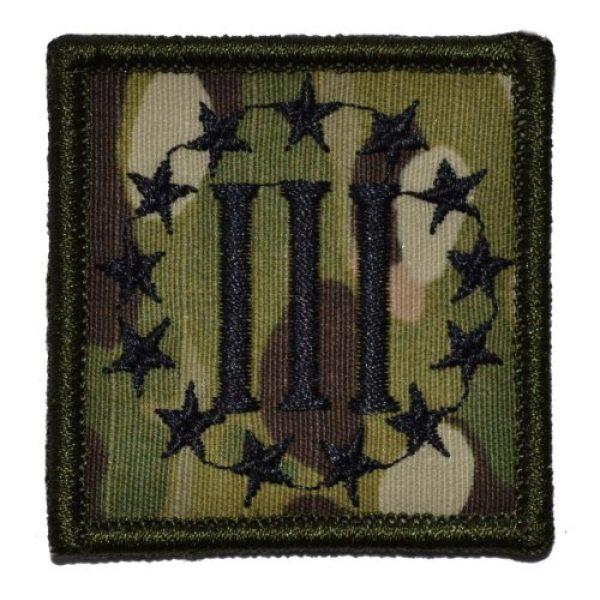 Tactical Gear Junkie Airsoft Morale Patch 1 3 Percenter Symbol Threeper 2x2 Patch - Multicam