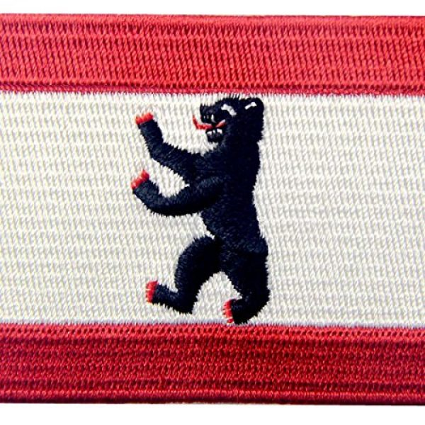 EmbTao Airsoft Morale Patch 2 Berlin City Flag Patch Embroidered Applique Iron On Sew On Emblem