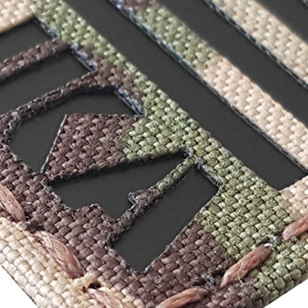 Tactical Freaky Airsoft Morale Patch 3 IR Multicam USA Flag BPOS B+ Blood Type NKA NKDA Infrared Tactical Morale Fastener Patch