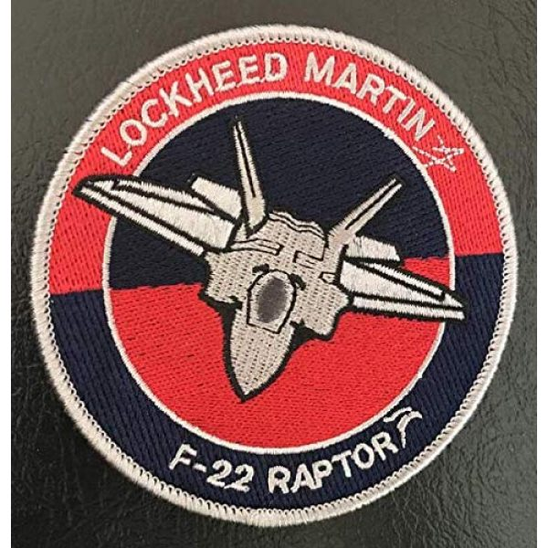 Embroidered Patch Airsoft Morale Patch 1 F22 Raptor Lockheed Martin 3D Tactical Patch Military Embroidered Morale Tags Badge Embroidered Patch DIY Applique Shoulder Patch Embroidery Gift Patch