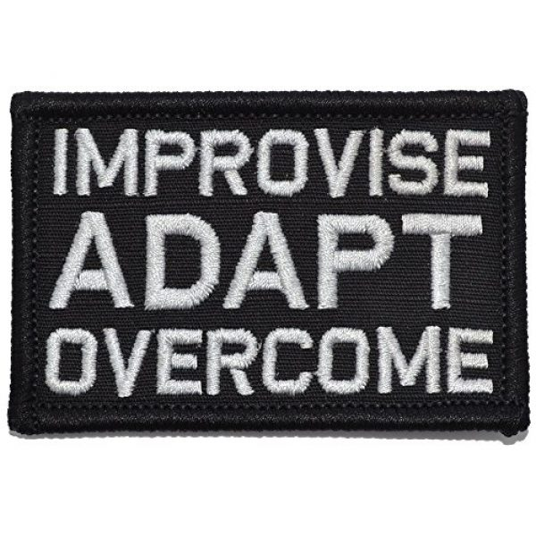 Tactical Gear Junkie Airsoft Morale Patch 1 Improvise Adapt Overcome - 2x3 Patch - Black