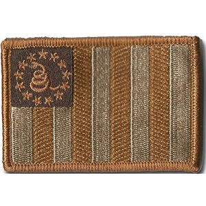 Gadsden and Culpeper Airsoft Morale Patch 1 Sons Of Liberty/Gadsden Tactical Patches