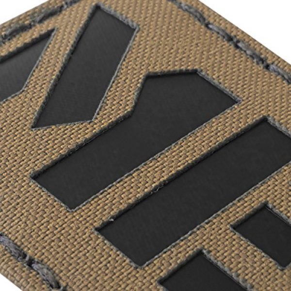 Tactical Freaky Airsoft Morale Patch 5 Coyote Brown Tan Infrared MED Medical EMS 3.5x2 Tactical Morale Hook-and-Loop Patch