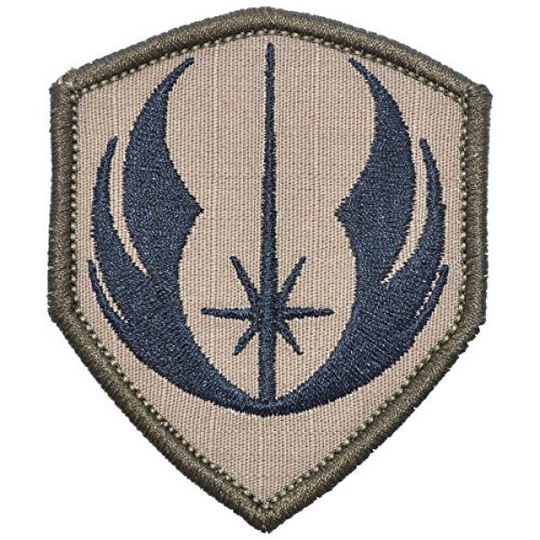 Tactical Gear Junkie Airsoft Morale Patch 1 Jedi Order Galactic Republic Jedi Knights 2.5x3 Shield Patch - Multiple Colors (Coyote Brown w/Black)