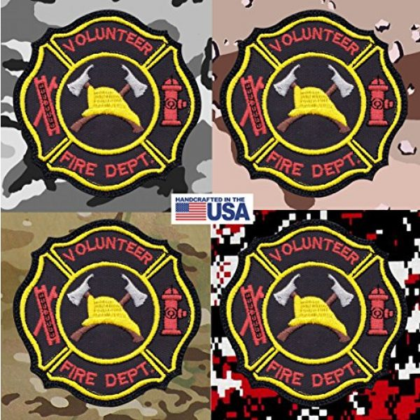 Tactical Patch Works Airsoft Morale Patch 4 Firefighter Hook Ladder Badge Patch