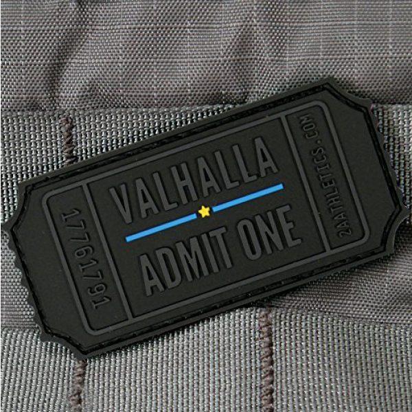 "Violent Little Machine Shop Airsoft Morale Patch 2 Violent Little Machine Shop""Valhalla Admit One"" Velcro Backed Morale Patch Blue"